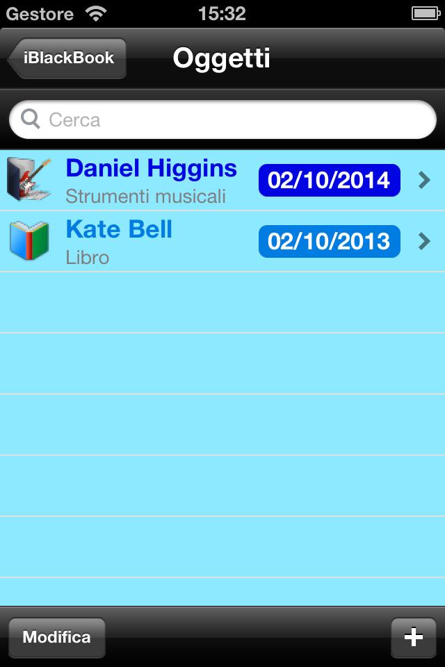 iBlackBook - Oggetti